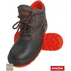 Рабочие полуботинки BRYESK-T-SB  с мет носком, черно-красного цвета. REIS