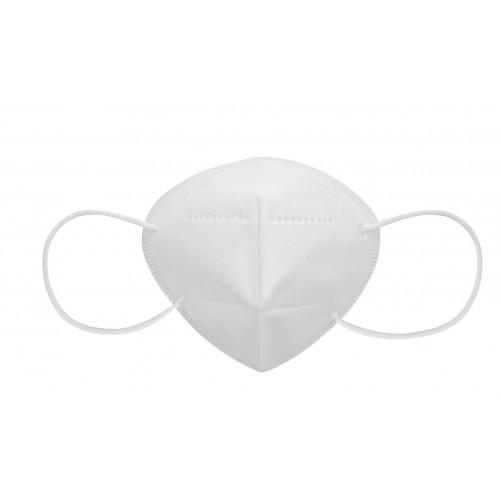Респиратор KN95/FFP2 белого цвета.