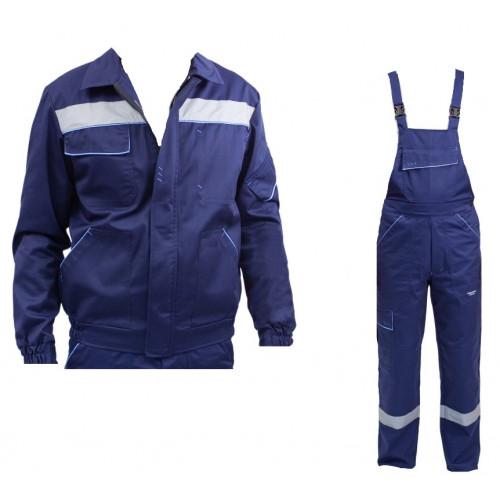 Высококачественный комплект одежды, плотностью 260г/м2 синего цвета. SIZ