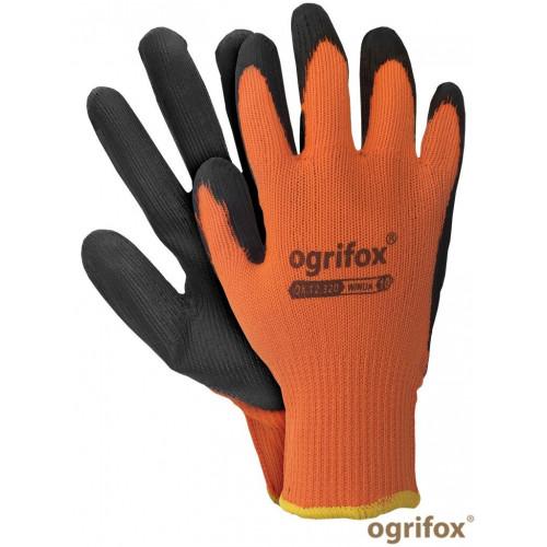 Перчатки OX-WINUA PB трикотажные с латексным покрытием оранжевого цвета