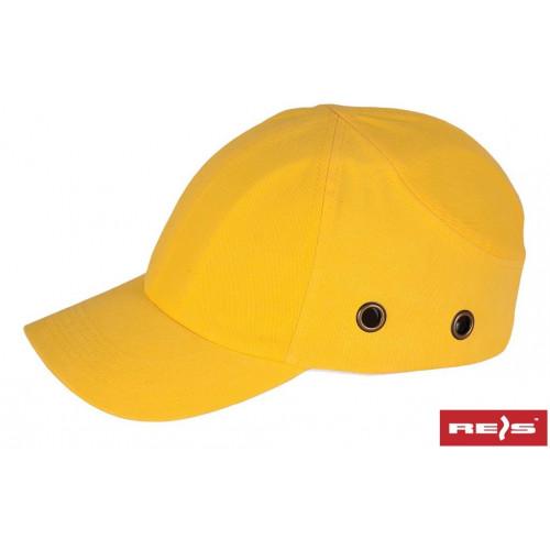 Каска-бейсболка BumpCap желтая с вентиляцией