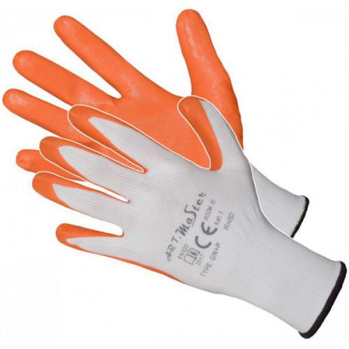 Перчатки ARTMAS RNIT Orange с нитриловым покрытием
