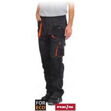 Рабочие брюки REIS FORECO-T SBP черно-оранжевого цвета
