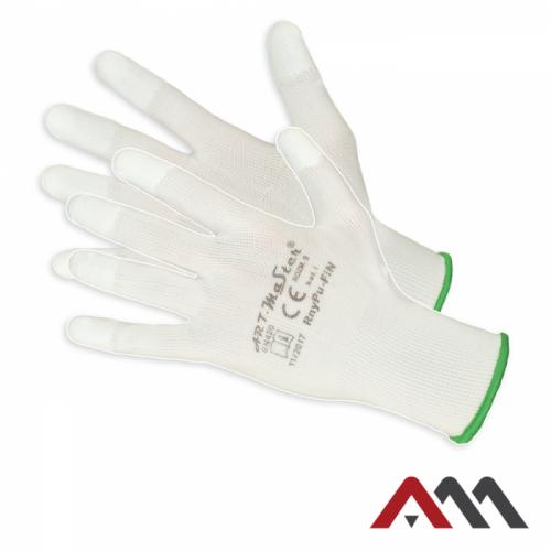 Перчатки рабочие ArtMaster RnyPu-FIN белого цвета