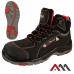 Защитные ботинки BTNRed, черного цвета с красными элементами. ARTMAS