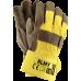 Защитные перчатки RLMY YCK 10 усиленные  кожей, желто-коричневого цвета. REIS