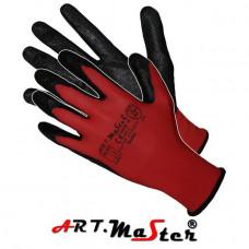 Защитные рукавицы RedNit изготовленные из полиэстера, покрытые нитрилом. ARTMAS