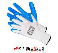 Перчатки RnitBlue защитные, изготовленные из полиэстера, покрытые нитрилом. ARTMAS