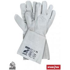 Перчатки для сварочных работ RSPBSZINDIANEX JS  из кожи двойно плотности, серого цвета. REIS
