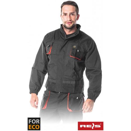 Защитная блуза FORECO-J SBP типа FORECO, из 100% хлопок, серого цвета. REIS