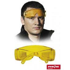 Противоосколочные защитные очки GOG-ICE-LIGHT Y, желтого цвета. REIS