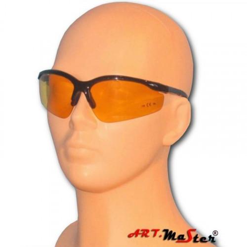 Противоосколочные защитные очки B306y c желтой линзой. ARTMAS