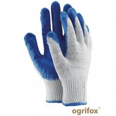 """Перчатки для легких работ """" Вампирки"""" OX-UNIWAMP, бело-синего цвета. REIS"""