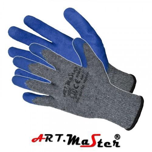 Перчатки RWgrip Blue защитные покрытые латексом. ARTMAS