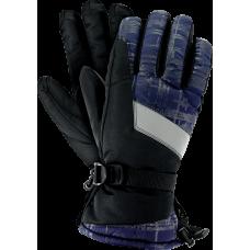 Перчатки защитные RSKIFLECTIVE GB  XL со светоотражающей вставкой, сине-черного цвета. REIS