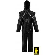 Костюм рабочий AJ-UK412 B кислотозащитный, черного цвета. PROS
