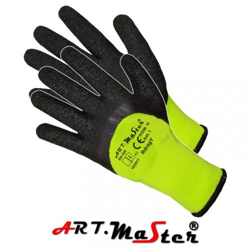 Перчатки для строительства и механических работ RdragY, серо-желтого цвета. ARTMAS