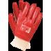 Защитные перчатки RPCVS C 10  изготовленные из ПВХ, красного цвета. REIS