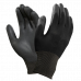 Защитные рукавицы RnyPu Black изготовленные из полиэстера, покрытые полиуретаном. ARTMAS