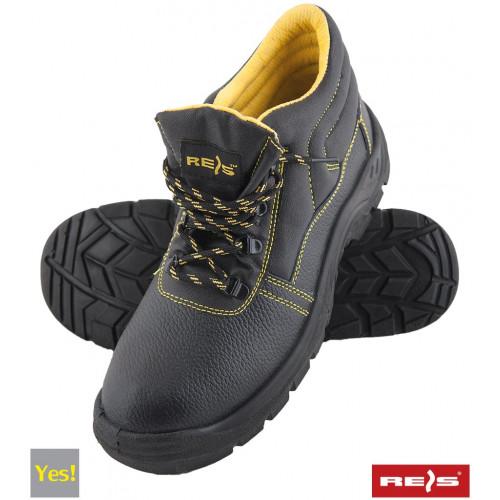 Ботинки рабочие BRYES-T-SB BY  со стальным подноском, покрыты кожей, черного цвета. REIS