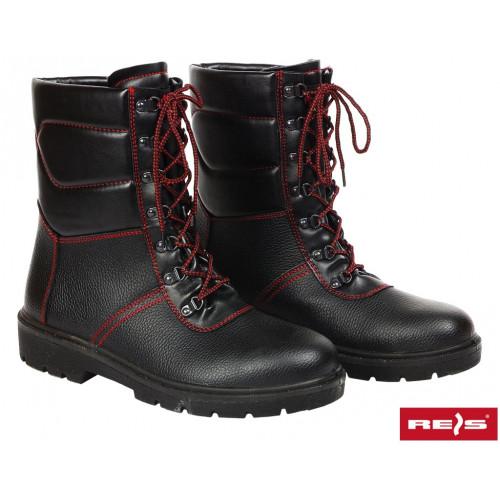 Зимние ботинки  BRWINTER BC с стальнным носком  покрыты кожей, утепленные, черного цвета. REIS