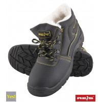 Зимние ботинки  BRYES-TO-OB BY покрыты коровьей кожей, утепленные, черного цвета. REIS