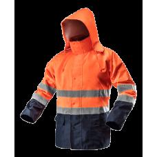 Сигнальная водостойкая рабочая куртка NEO TOOLS 81721