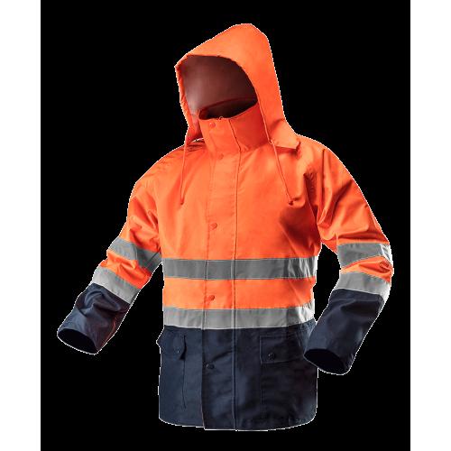 Сигнальная водостойкая рабочая куртка 81721. NEO TOOLS