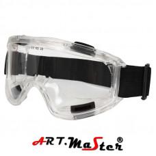 Закрытые защитные очки с прозрачной линзой GB028. ARTMAS