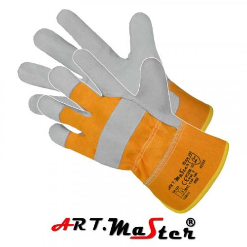 Защитные перчатки RBŻ изготовленые из спилка. ARTMAS