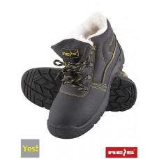 Зимние ботинки BRYES-TO-SB с стальным носком, покрыты кожей, утепленные, черного цвета. REIS