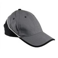 Кепка со светоотражающей полоской URG-TOP_GREY/BLACK, черно-серого цвета. URGENT