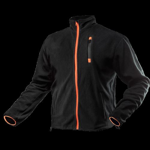 Блуза 81-500 из высококачественного флиса, черно-оранжевого цвета. NEO TOOLS