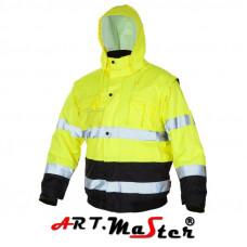 Куртка рабочая светоотражающая ARTMAS FLASH Short Yellow