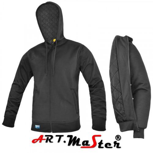Толстовка из высококачественной полиэфирной ткани COMFORT+PIK black bluza черного цвета. ARTMAS