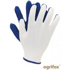 Перчатки для легких работ OX-LATUA, бело-синего цвета. REIS