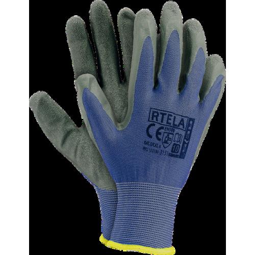 Перчатки для строительства и механических работ RTELA NS, серо-синего цвета. REIS