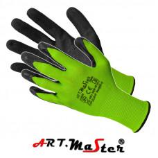 Перчатки RWnyl B+S защитные, изготовленные из полиэстера, покрытые латексом. ARTMAS