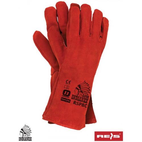Перчатки для сварочных работ RSPBCINDIANEX из яловой кожи, красного цвета. REIS