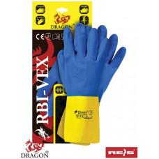 Перчатки для работ в пищевой промишлености и сельском хозяйстве RBI-VEX, синего цвета. REIS