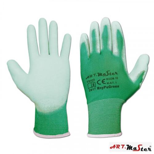 Защитные рукавицы ARTMAS RnyPu Green