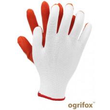 Перчатки для легких работ OX-LATUA, бело-оранжевого цвета. REIS