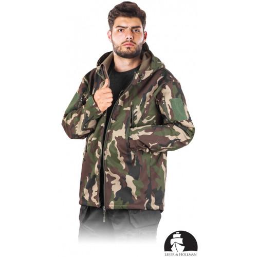 Куртка LH-WOODLAND  из материала SOFTSHELL, камуфляжного цвета. LEBER HOLLMAN