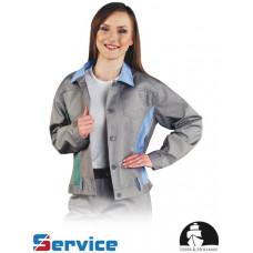 Женская роба LH-JACKVISER SJNJZ изготовленна из полиэфира, серо-синего цвета. REIS
