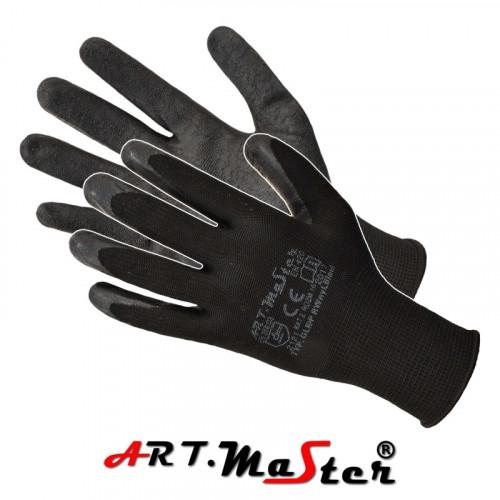 Перчатки RWnyl Black защитные, изготовленные из полиэстера, покрытые латексом. ARTMAS
