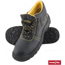 Ботинки рабочие BRYES-T-S1 BY со стальным подноском, покрыты кожей, черного цвета. REIS