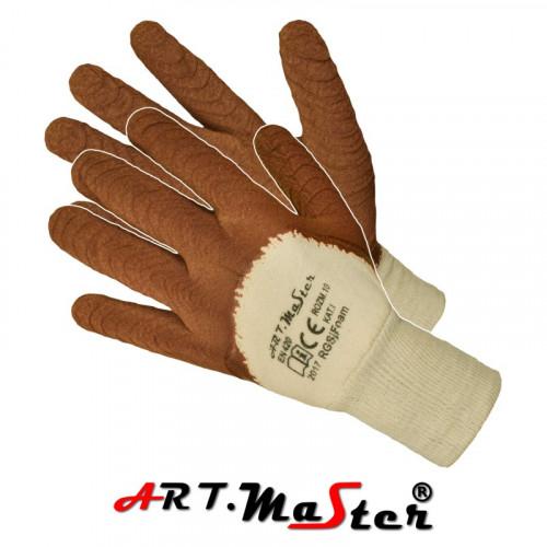 Защитные перчатки RGSj FOAM покрытые латексом внутри из тика. ARTMAS